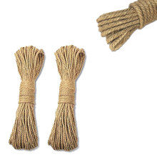 4MM x 100Meters Jute Rope Natural Strong Hemp Rope Cord Jute Twine for Arts Crafts DIY Decoration Gift Wrapping(China)