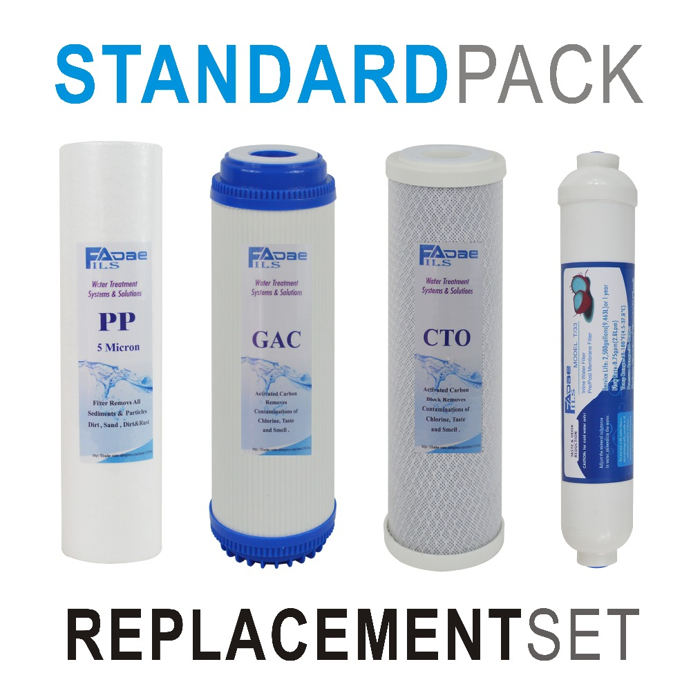 RO System Replacement Filter Sets 10inch PP GAC CTO Inline Post Carbon Water Filter Cartridge stage