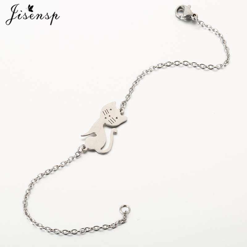Jisensp Кот котенок питомец Очаровательная цепочка браслеты для женские браслеты регулируемый животный браслет Детские ювелирные изделия подарок дропшиппинг