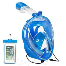 YaHey 2018 Snorkeling Mask Full Face Anti-Fog Swimming Masks Underwater Buceo Snorkel Underwater Equipment Set For Scuba Diving все цены
