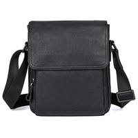 Genuine Leather Sling Bag Mens Shoulder Bag Cowhide Vintage Travel Fashion Cross Body Messenger Bag