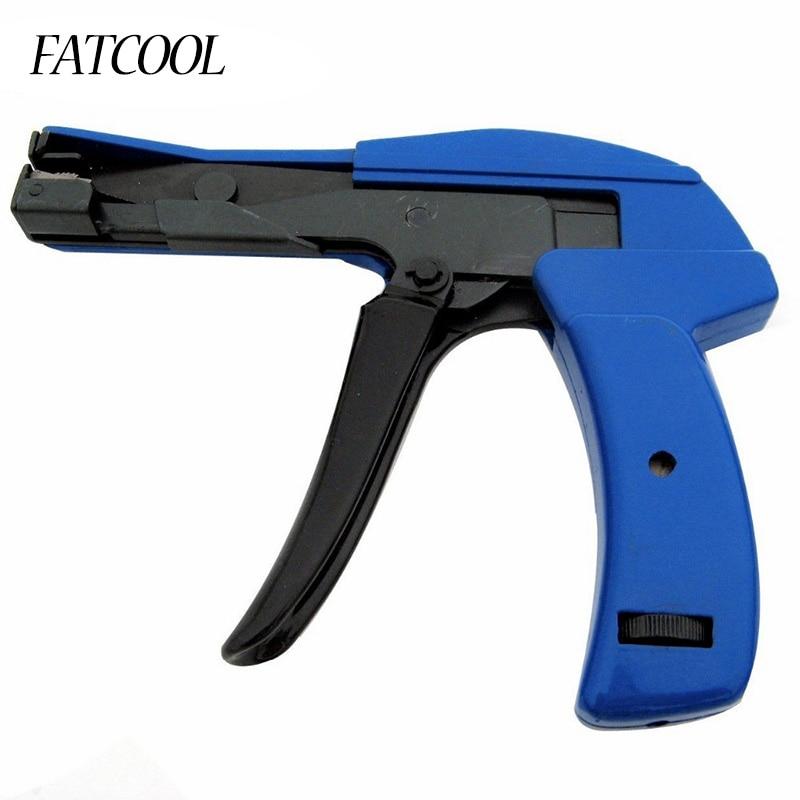 FATCOOL 2.4-4.8mm Automatique Outils De Serrage Guns Fixer Outil De Coupe En Plastique Nylon Cable Tie Gun