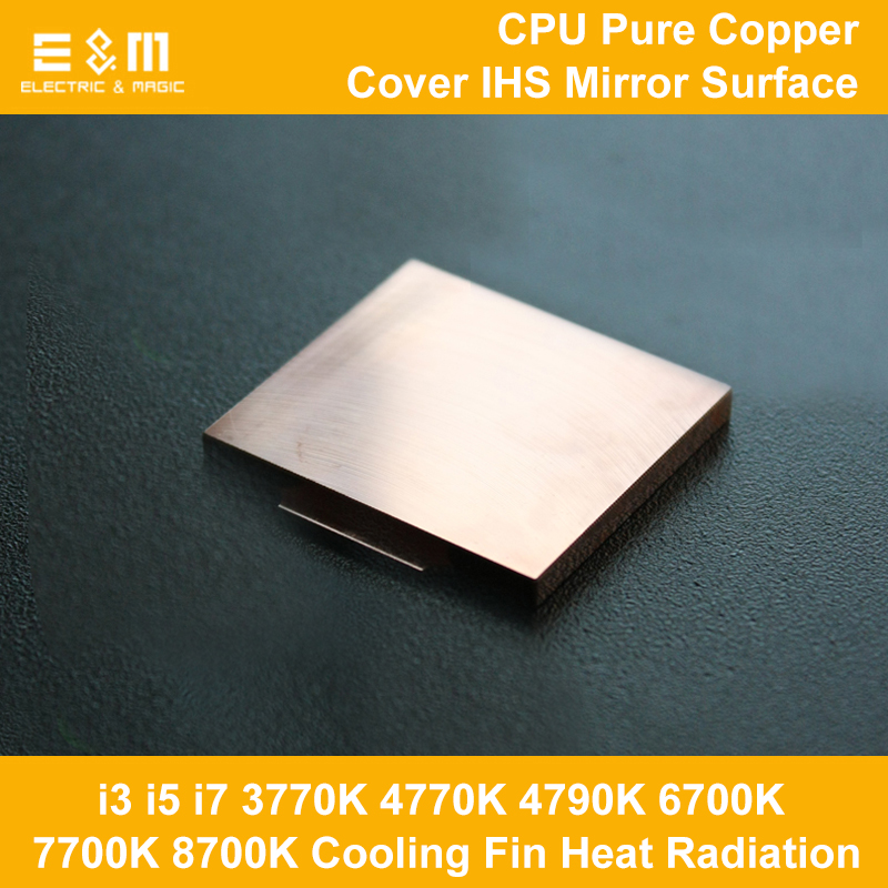 CPU Cool Pure Copper Cover Ihs Overclocking Cooling Fin Heat