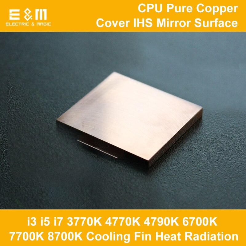 CPU Kühlen Reinen Kupfer Abdeckung Ihs Overlocking Kühlung Fin Wärme Strahlung Opener für 115X i5 i7 3770 karat 4770 karat 4790 karat 6700 karat 7700 karat 8700 karat
