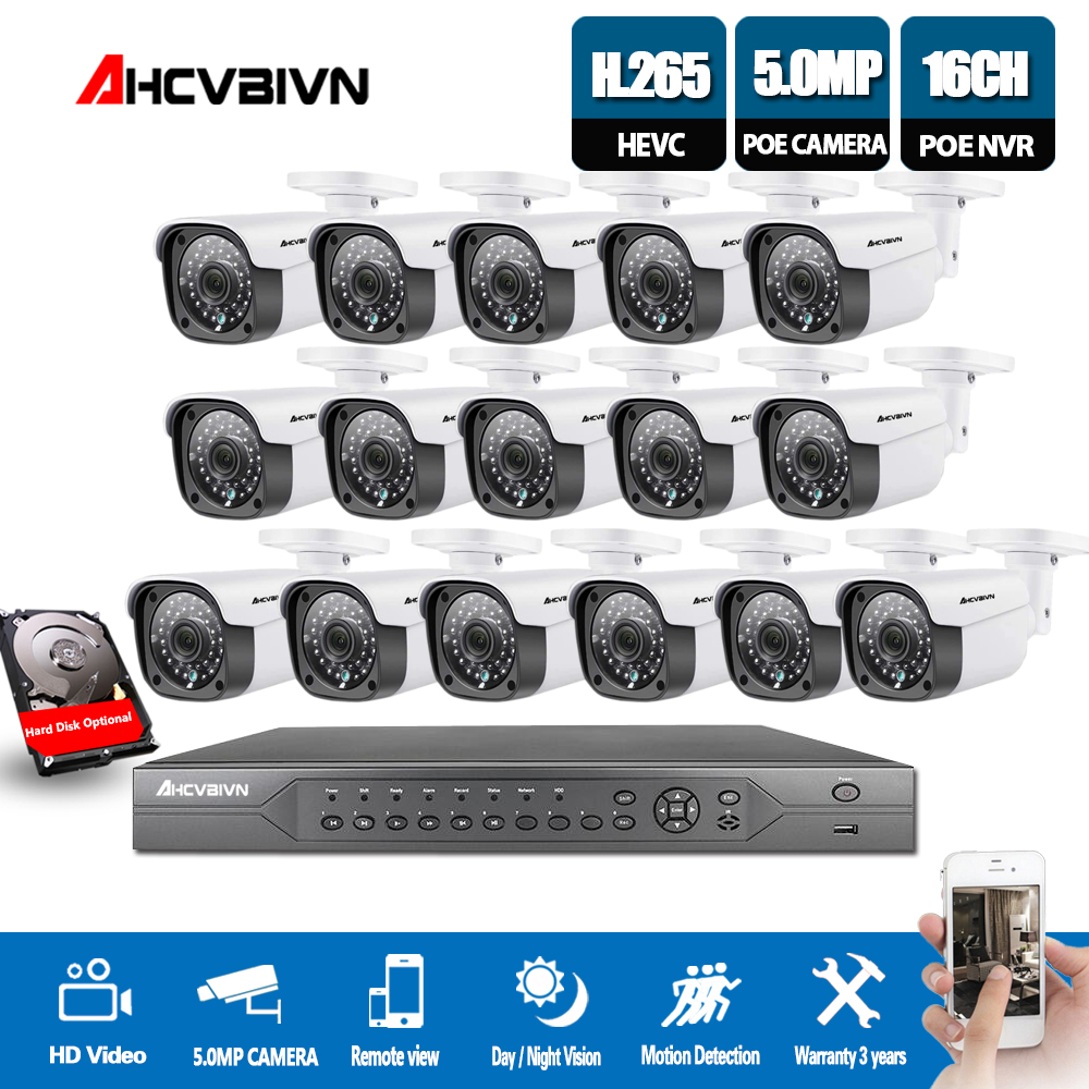 H.265 4K 5MP 16CH POE NVR Kit 16Pcs 5.0MP CCTV System Security POE IP Camera HD 5MP IP Outdoor Camera P2P HDMI NVRH.265 4K 5MP 16CH POE NVR Kit 16Pcs 5.0MP CCTV System Security POE IP Camera HD 5MP IP Outdoor Camera P2P HDMI NVR
