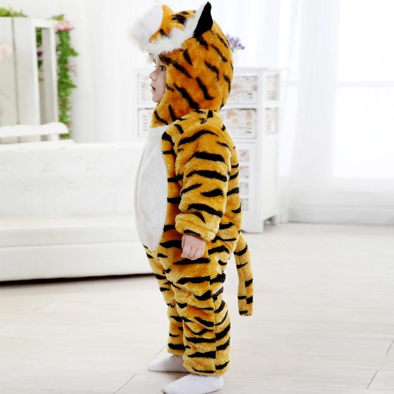 9f7347fa6a80 Winter Baby Rompers Tiger Baby Girl Christmas Costumes Toddler ...