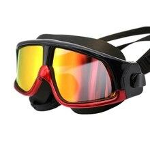 Мужские и женские очки для плавания Спортивные Профессиональные анти-противотуманные УФ-защитные очки для дайвинга водонепроницаемые Регулируемые очки для плавания Pro