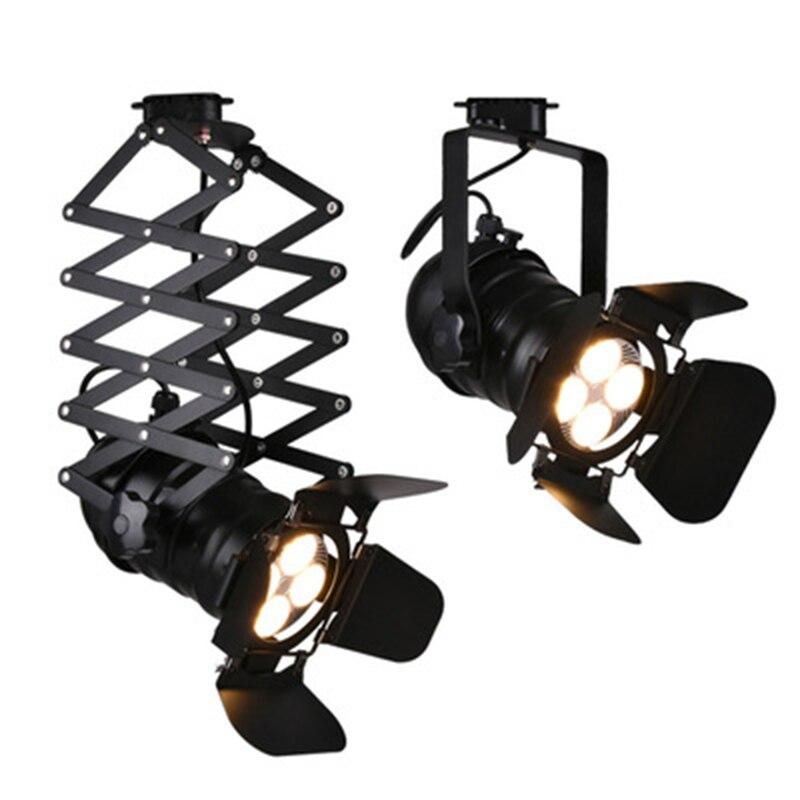 Retro E27 Track Light Spotlights Minimalist Led Ceiling: Retro Industrial Painted Track Ceiling Lamp E27 Plafonnier