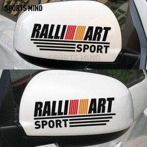 1 Par Sports Mente RALLI ART Espelho Retrovisor Adesivo de Carro Car Styling Para Ralliart Mitsubishi Lancer Outlander Asx colt Pajero L200