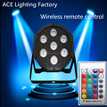 10pcs/lot Wireless remote control Super Bright LED Par RGB SlimPar Tri 7 LED Stage Wash Lighting for Wedding Concert Parties DJ