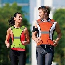 High Visibility LED Reflective Safety Vest Jacket Men Women Night Running Cycling Vest ST цена в Москве и Питере