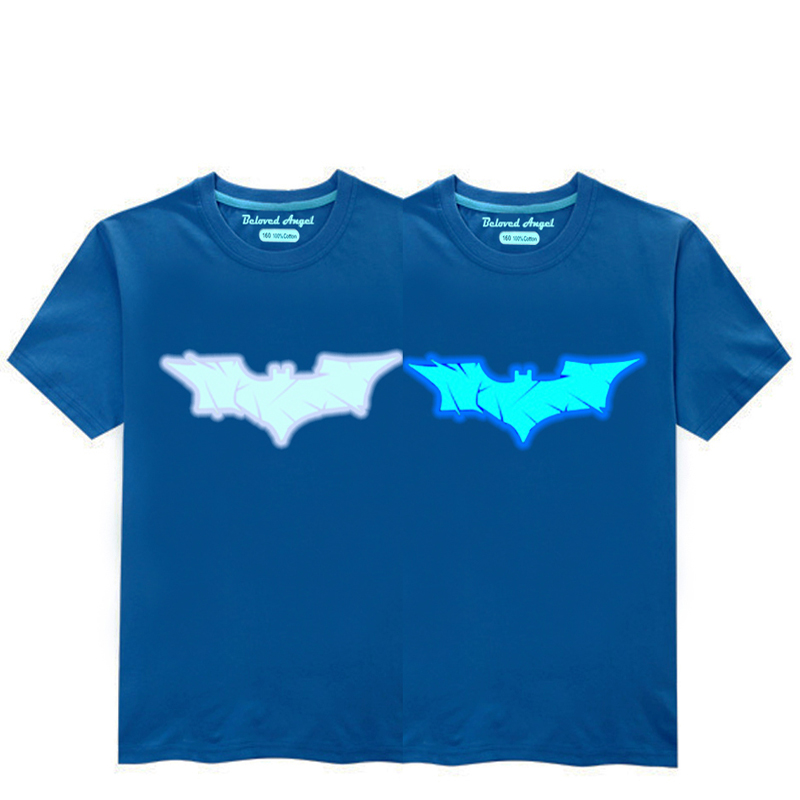 HTB1VwpZR7voK1RjSZFNq6AxMVXai - Luminous Short Sleeves T-Shirt For Boys T Shirt Spiderman Christmas Teen Girls Tops Size 3-15 years Teenage Toddler Boy Tshirts