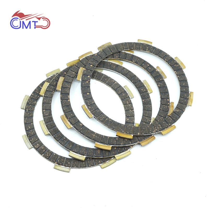 For Honda CR60R 1983 Motocross CR80R 1980 1981 1982 1983 NSR50 Mini 50 2004 Dirt Bike Clutch Friction Disc Plate Kit 4 Pieces