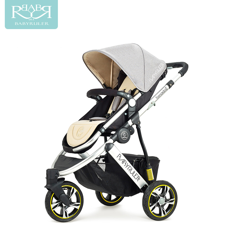 Babyruler baby stroller high landscape two-way can sit in the portable baby carriage three rounds of shock children's cart the baby stroller of the aimile can sit on a bb cart in the four seasons of high landscape folding