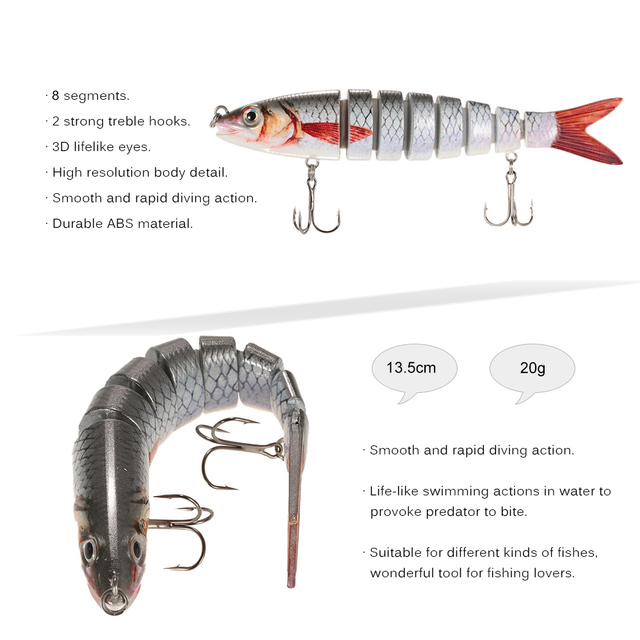 Lifelike Swimbait 6 Colors -SB135
