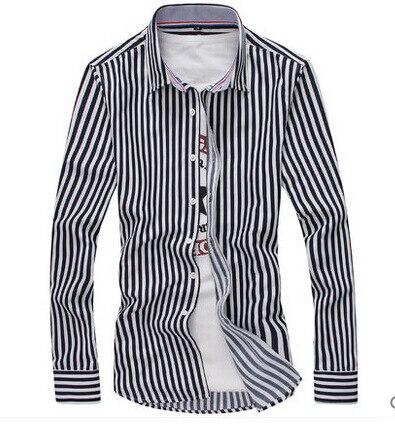Leisure Fashion Langärmliges Hemd Offenes Hemd Langärmliges Hemd - Herrenbekleidung - Foto 2