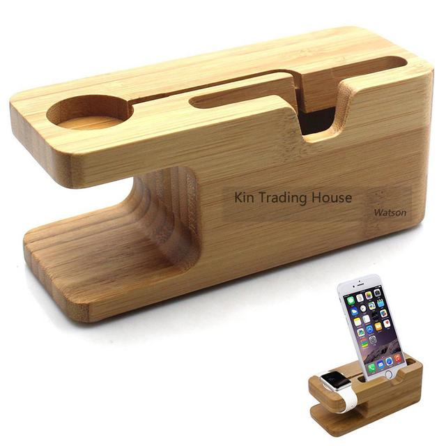 Titular de bamboo para iPhone y Apple Watch