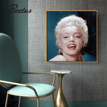 Sexy Marilyn Monroe Movie Star Wall Art Canvas Painting Black White Nordic Posters Prints Picture For Living Room Decor