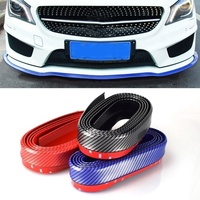 4 Colors Universal Car Auto Styling Mouldings Lip Skirt Protector Front Bumper Spoiler Side Carbon Fiber Splitter
