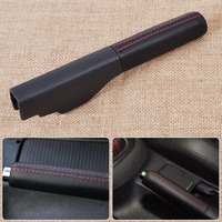 BBQ@FUKA Leather Handbrake Parking Handle Cover Replacement Interior Car Accessories For VW Jetta Golf Rabbit GTI EOS MK5 MK6
