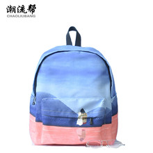 Chaoliubang оригинальный Дизайн женщины рюкзак девушки с собакой печати школьные рюкзаки для девочек-подростков холст путешествия рюкзак Sac
