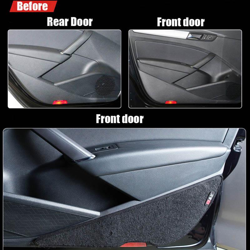 Ipoboo 4pcs Fabric Door Protection Mats Anti-kick Decorative Pads For Volkswagen Passat ipoboo 4pcs fabric door protection mats anti kick decorative pads for hyundai elantra 2012 2015