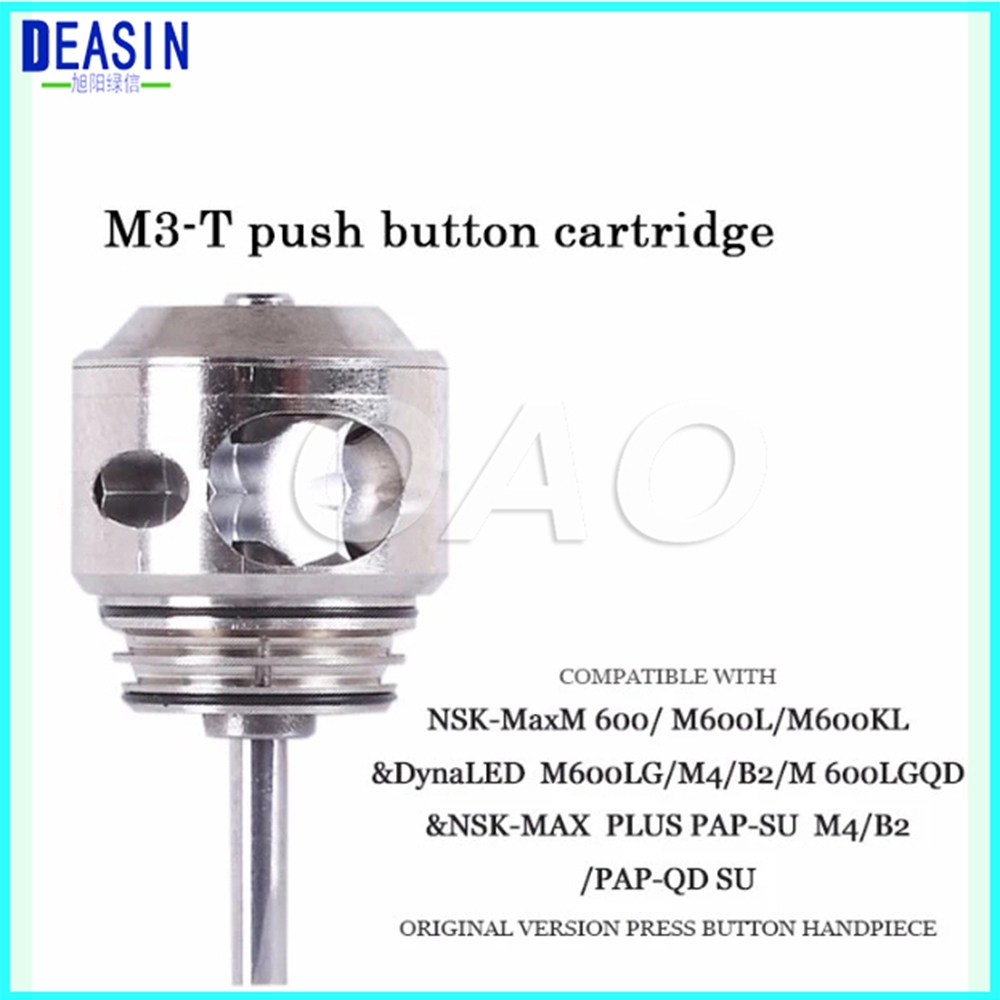 3 pcs X Dental NSK Turbine Cartridge for Pana Max Plus S-Max M600L/M600 / Dynal LED S-Max with 4 water spray hose hugger max 3 x 34