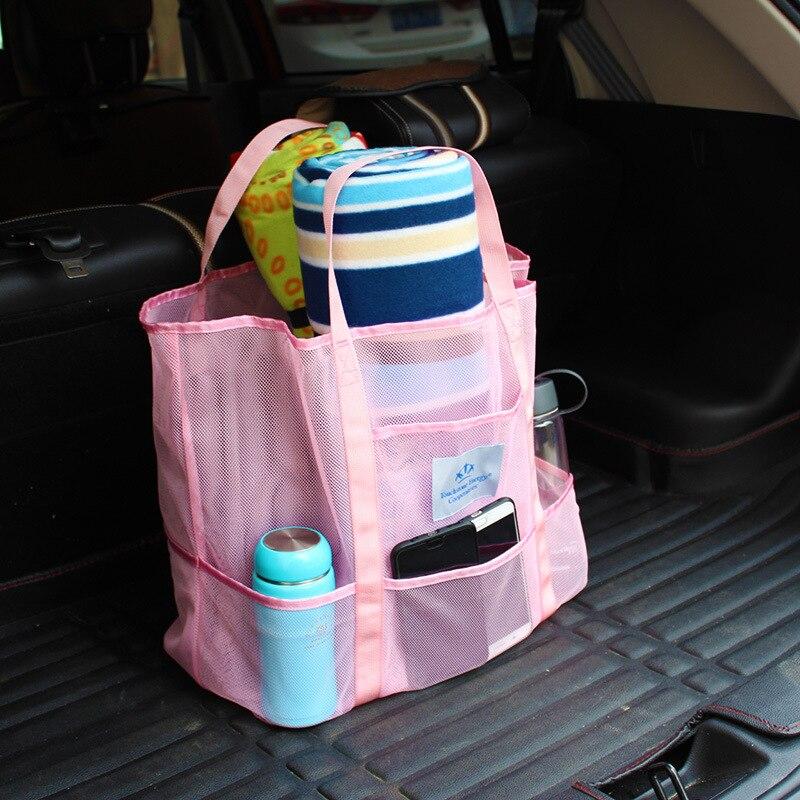 Runseeda Swimming Handbag Women Mesh Beach Bag Cosmetic Pouch Portable Surfing Storage Tote Bags For Balls Beach Mat & Kids Toys