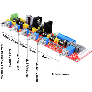 Image 4 - NE5532 HIFI 5.1 Tone płyta płyta wzmacniacza głośności Panel sterowania dla 5.1 płyta wzmacniacza AC15V 0 15V darmowa wysyłka 12003207
