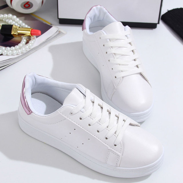 Hemmyi Shoes Woman White Lace-up Solid Fashion Women casual shoes Common Projects Spring/Autumn 2017 Size 35-40