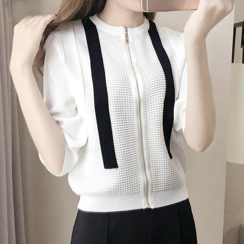 2017 mujeres del verano del resorte flojo ocasional outwear hollow chaqueta de m