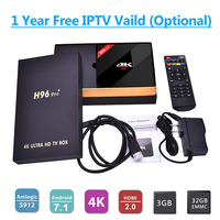 1 Year Best 4K Android IPTV Box 3G 32G H96 Pro UK DE IT French 1150