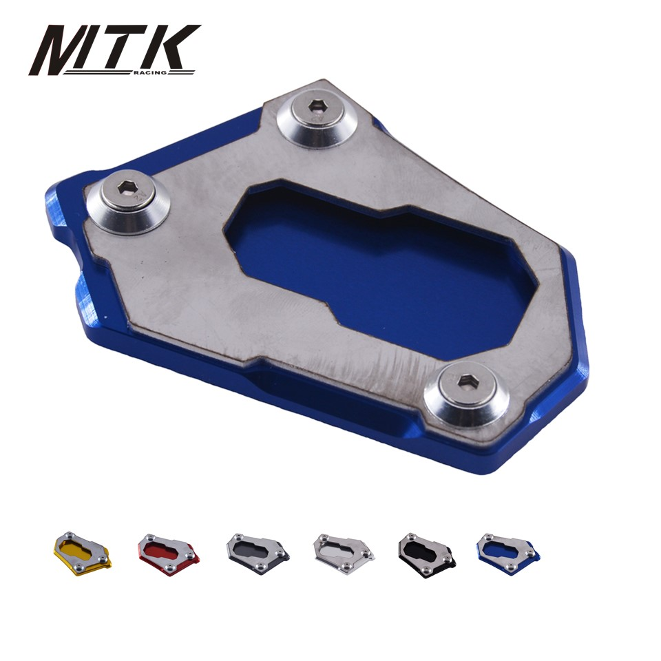 MTKRACING R1200 GS Motorcycle accessoris CNC Aluminum Kickstand Side Stand Pad For BMW R1200GS 2013-2017 for bmw f800r 2009 2012 2013 2014 hp2 08 motorcycle cnc aluminum side stand enlarger cnc kickstand pate pad side stand enlarger