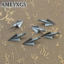 6 uds puntas de arquería 3 puntas de flecha atornilladas puntas de ballesta para caza de Bw y flecha accesorios de caza al aire libre