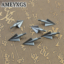 6Pcs Archery Broadheads 3 Blade Screw in Arrowheads Crossbow Hunting Tips For Bw And Arrow Outdoor Hunting Shooting Accessories