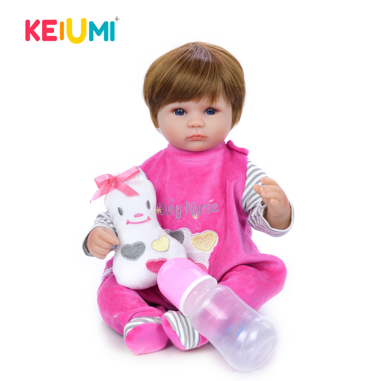 """2019 venda quente 43 cm reborn boneca do bebê artesanal 17 """"bonecas recém-nascidos moda meninas brinquedos para crianças bonitos playmate presentes de aniversário"""