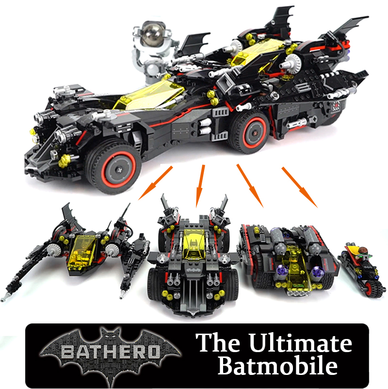 LEPIN 07077 The Ultimate Batmobile Batman Marvel's The Avengers Super Heroes Blocks Toys 1496pcs Compatible Batman Movie 70917 1496pcs new super heroes batman the ultimate batmobile set 07077 diy model building blocks toys brick moive compatible with lego