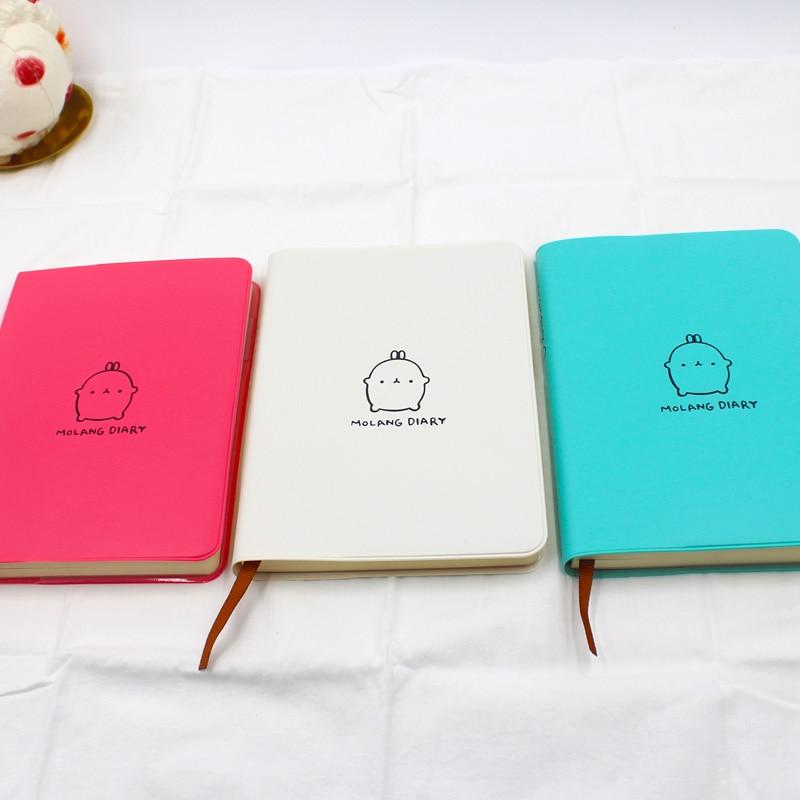 Cartoon Diary: Rabbit Diary With 2018 2019 Calendar Cute Rabbit Notebook