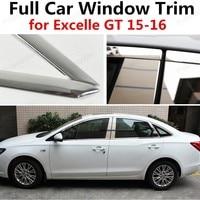 Hot!! janela do carro cheio de aço inoxidável guarnição Decoração Tiras com a coluna para Excelle GT 2015 2016