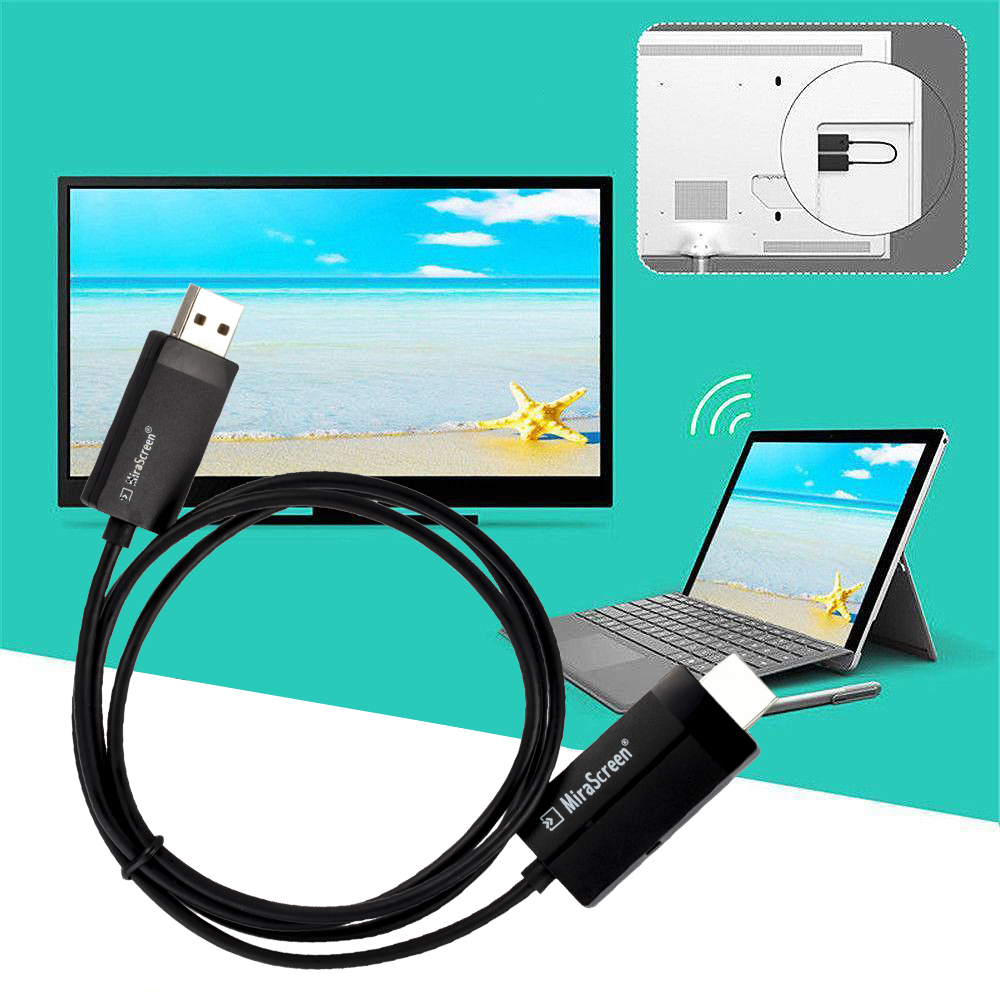 Tv-Adapter-Receiver Microsoft Wireless-Display Dongle Tv-Stick Media-Streamer HDMI USB