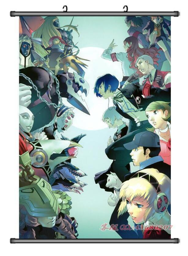 60*90 cm Anime affiche Shin Megami Tensei: Persona 3 Décor Affiche Wall Scroll Décoration Japonais de bande dessinée décoratif affiche