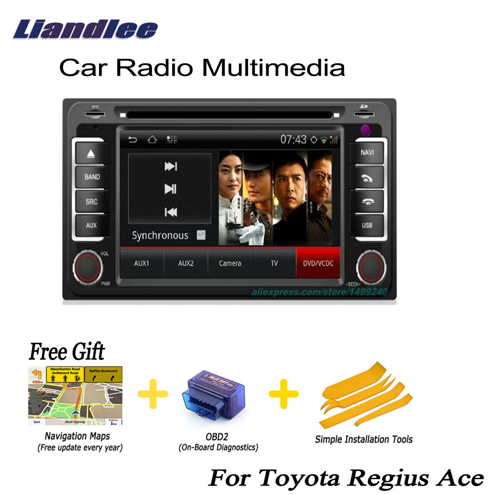 Cheap Liandlee For Toyota Regius Ace 2004~2013 2 din Car Android GPS Navi Navigation Maps Radio CD Audio Video Stereo DVD Player 0