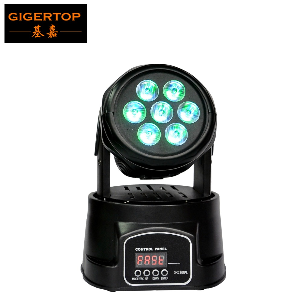 Cheap Price DMX CE and RoHS Hot Sale Ultra-Bright Sharp 7*10W 4in1 LED Moving head wash Dj light led strobe light 110V-240V