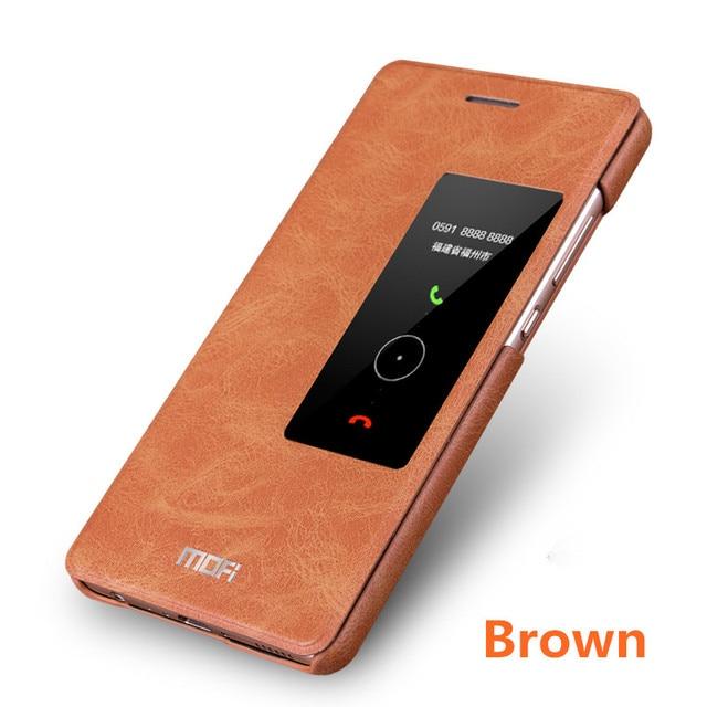 sale retailer a0289 837e0 US $13.99  huawei p9 case cover flip window smart wake mofi original p9  huawei dot view celulares hauwei p9 eva al10 huawei p 9 case-in Flip Cases  ...