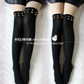 Princesa Lolita dulce lolita Medias ola Rivet rivet algodón stocking muslo over-the-rodilla spank leggings