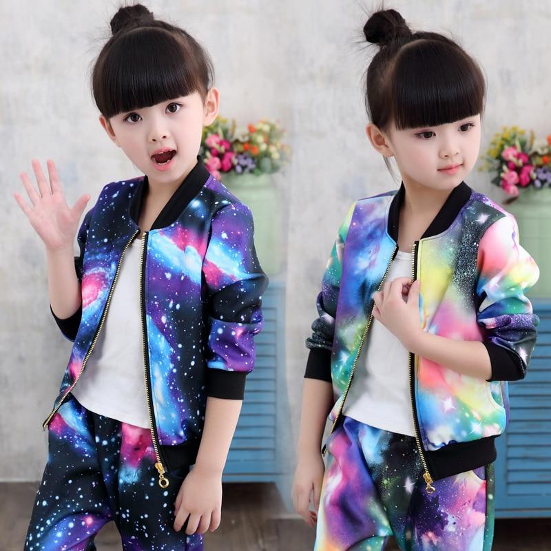SERAIALDA Kids Girls Winter Autum Cartoon Flora Zip up Hooded Outdoor Sports Jacket Coat Outwear