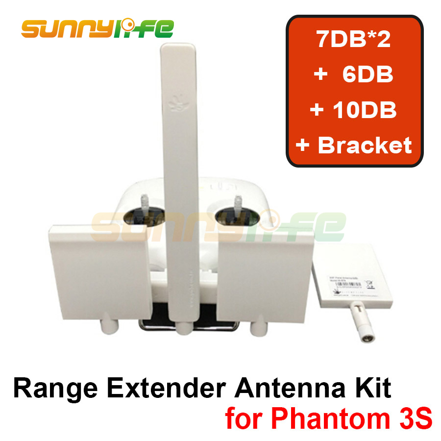 Remote Controller Antenna Refitting Combo Long Range Antenna Range Extender for DJI Phantom 3S/3SE 3d printed remote control antenna balancer range booster antenna parallel keeper for dji phantom 4 3 inspire 1