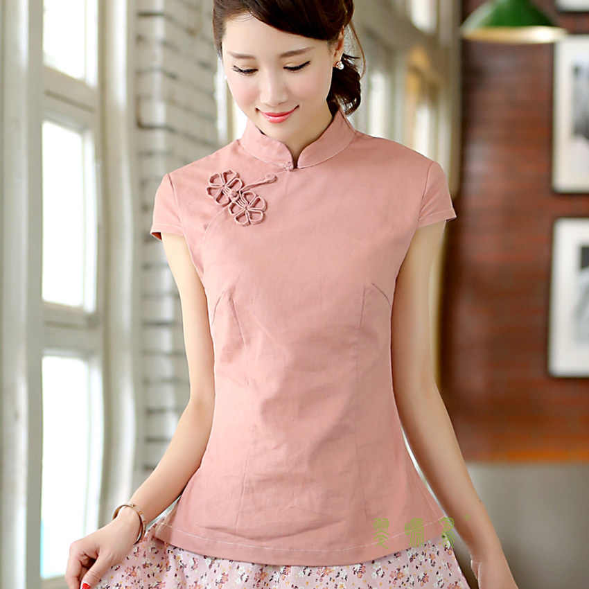 98488ec60 ... Shanghai Story National chinese style top tradition chinese cheongsam  top traditional Chinese Top Women's Linen blouse