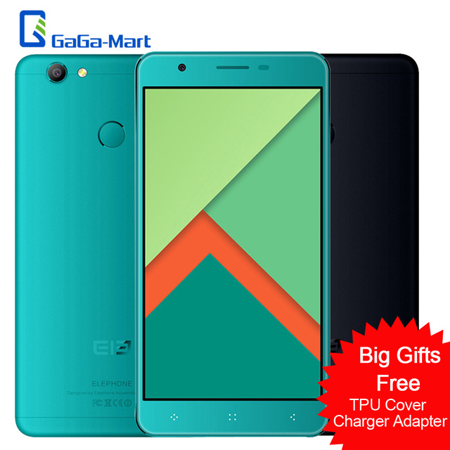 Elephone C1X 4G-LTE Smartphone Android6.0 MTK6737 Quad-core 2GB RAM 16GB ROM 8.0MP+5.0MP Fingerprint 5.5inch 2.5D HD Cellphone