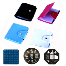 цена на 1pcs 32 Slots Nail Image Plate Folder/CASE/ABLUM for dia7.0cm KONAD Stamping Art CASE Nail Decoration Folder
